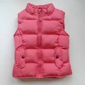 Cherokee | girl's coral puffer vest (4T/5T)